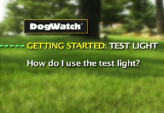 How do I use the test light?